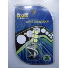 H3LED* Лампочка диодная H3 LED 12V 13 SMD WHITE  МАЯК (Китай)