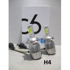 H4LED C6* Лампочка 12v LED 36W/3800LM Комплект диодный  (Китай)