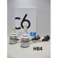 HB4LED (9006) C6* Лампочка 12v LED 36W/3800LM Комплект диодный (Китай)