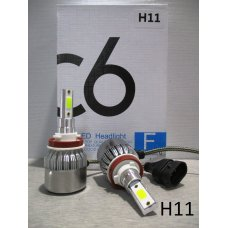 H11LED C6* Лампочка 12v LED 36W/3800LM Комплект диодный (Китай)