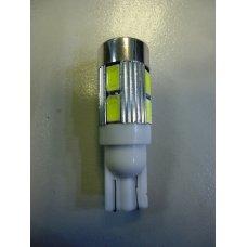 T10LED 12V 10LED* Маленькая белая диодная без цоколя МАЯК (Китай) Габарит