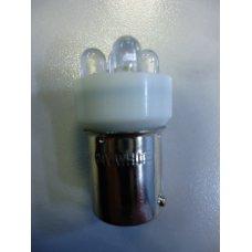 T15LED 24 V 5 LED*  Лампочка белая диодная мет. цоколь одноконтактная 24V МАЯК (Китай)