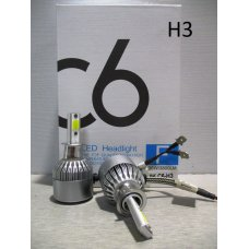H3LED C6* Лампочка H3 12V Комплект диодный  (Китай)