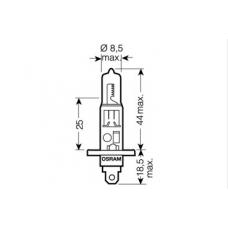 H1 (64150)* Лампочка H1 12V 55 W OSRAM (Германия)