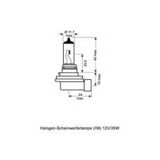 H8 (64212)* Лампочка H8 12V 35W OSRAM (Германия)