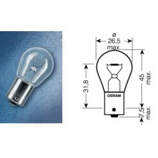 P21W (7511)* Лампочка белая одноконтактная 24V 21W OSRAM (Германия)