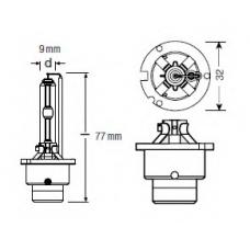 D2S (66240)* Лампочка ксенон D2R 12V 35 W OSRAM (Германия)